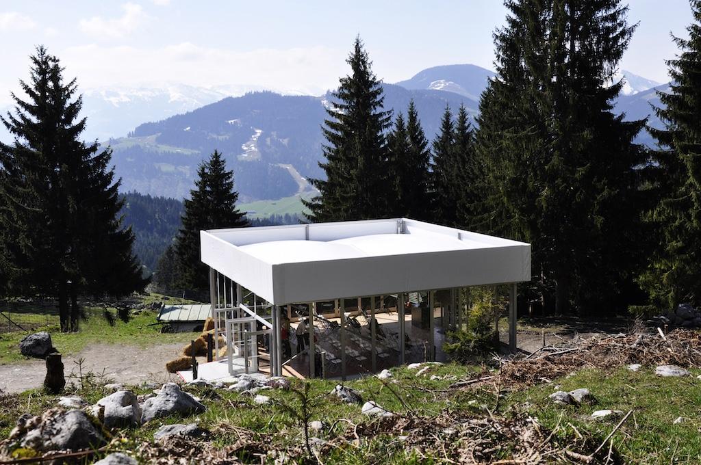 Science Cube, hier in den Tiroler Alpen