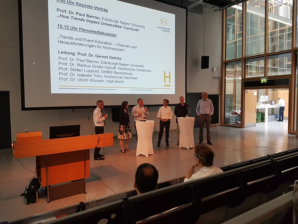 Eröffnung des Event Education Symposium Hannover