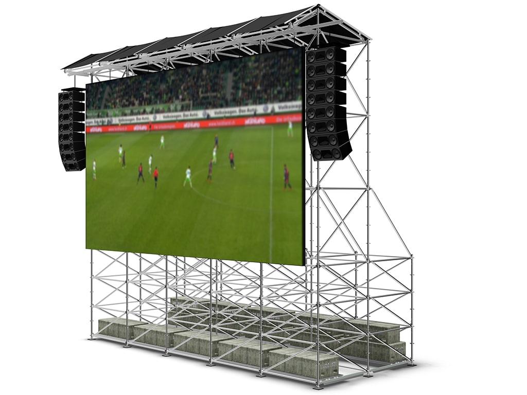 Videowand-System von Layher