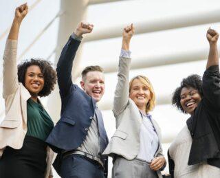 Team-Gruppe-Teambuilding-Gemeinschaft