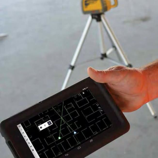 Rigging Positionierung-Lasersystem QML800 Tablet
