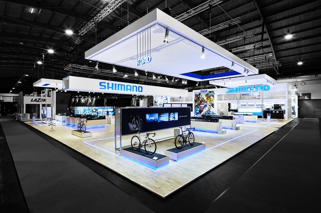 Shimano Messestand für Display International Schwendinger GmbH & Co. KG