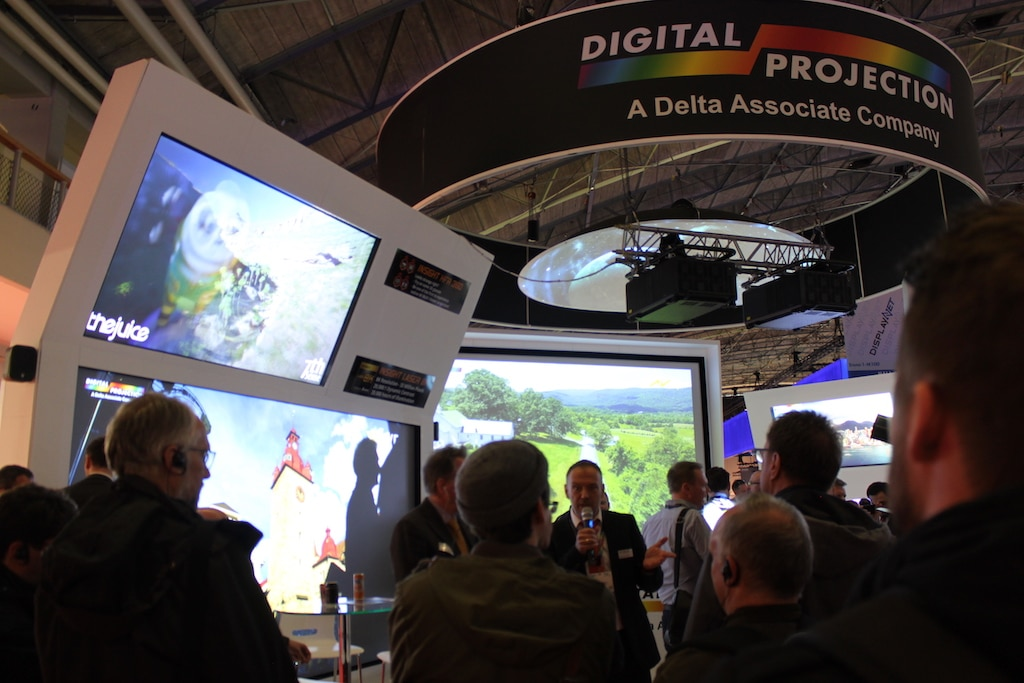 Digital Projection mit neuem 8K-Projektor, präsentiert von Andreas Voss, Regional Sales Manager DACH