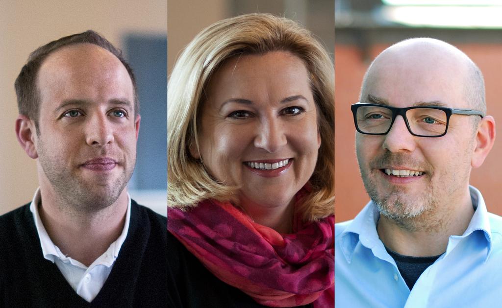 (v.l.n.r.): Oliver Hahn, Jeannette Molfenter und Gregor Schmidt