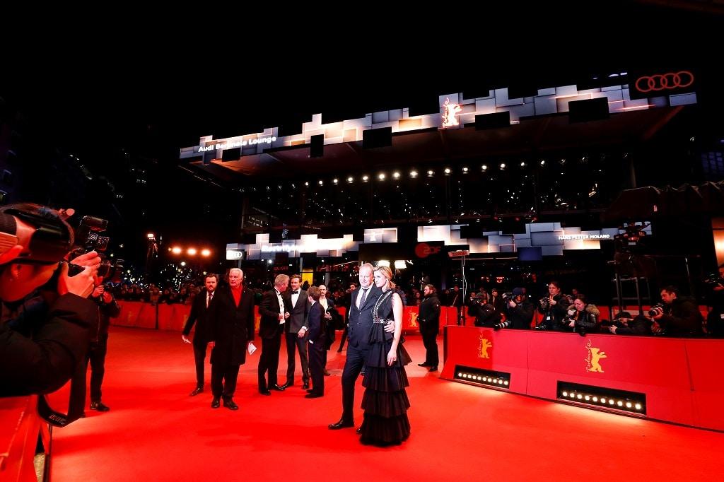 "Premiere ""Out Stealing Horses"" (Ut og stjÊle hester) Stellan Skarsgard, Danica Curcic and the Audi e-tron"