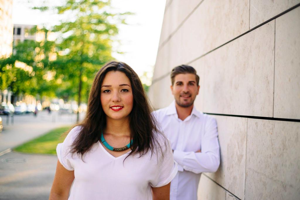 Monira Noureddine und Stefan Blasius