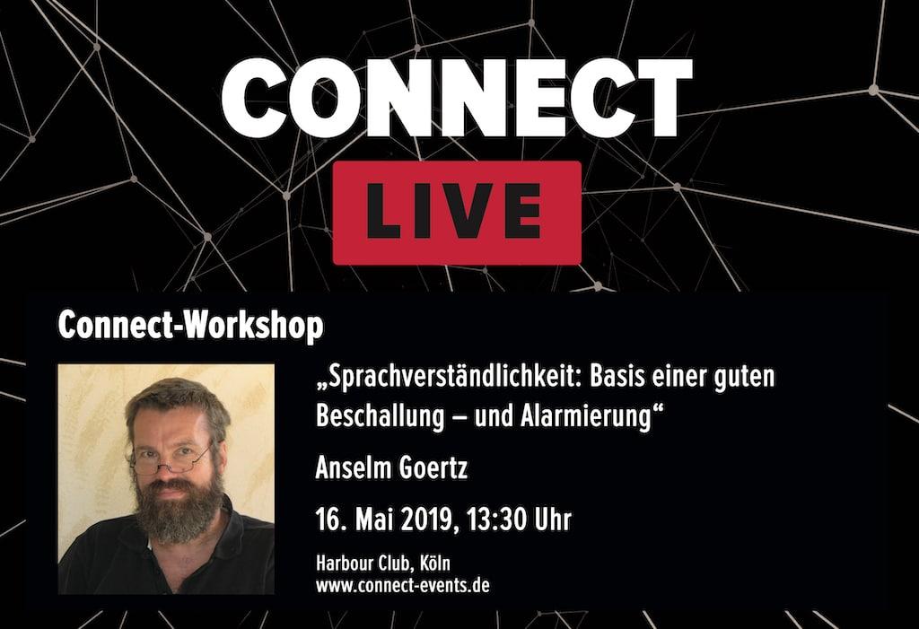 Connect Workshop Anselm Goertz