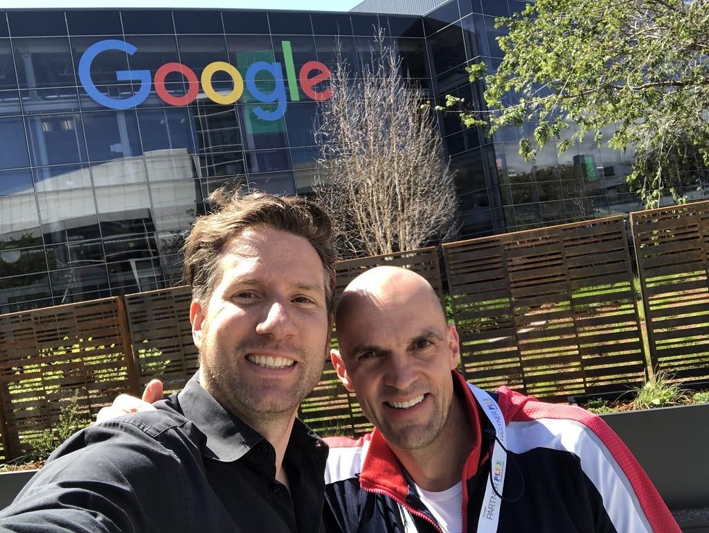 Mike Wutta (r.) mit Christian Plagemann auf dem Google Campus