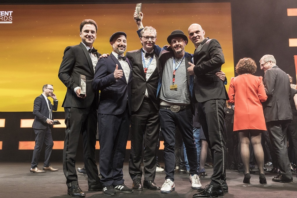 """Für die Umsetzung des Live-Marketing-Events der Zeiss Convention """"The Future of Optics 2017"""" wurde trend factory 2018 mit dem Heavent Award ausgezeichnet."""