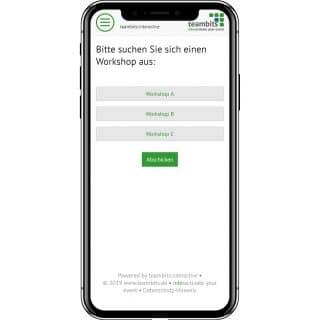 Smartphone mit Event-App