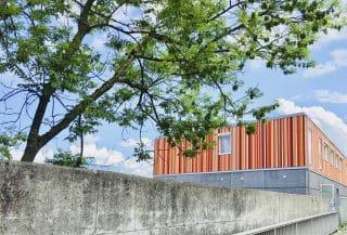 Besucherzentrum Einhausung Schwamendingen außen