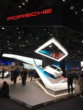 Der neue, vollelektrifizierte Porsche Taycan steht klar im Zentrum des Porsche Auftritts auf der IAA 2019.
