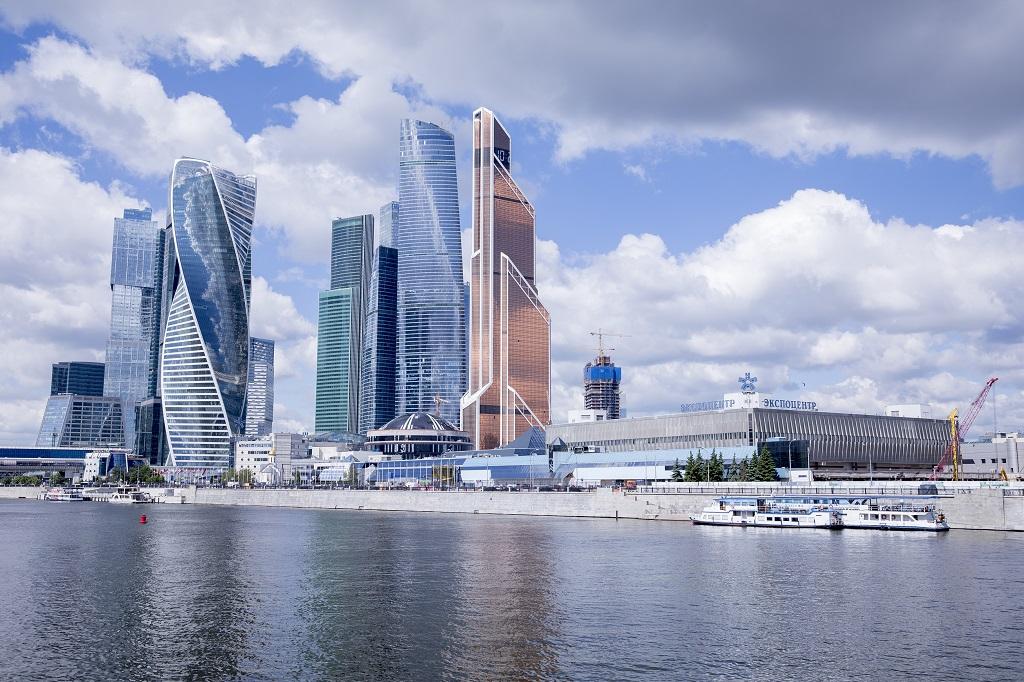 Das Gelände des Messe-Düsseldorf-Kooperationspartners Expocentre in Moskau
