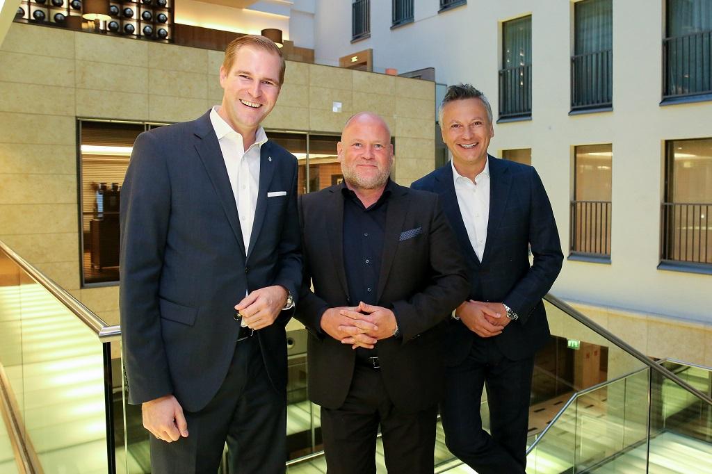 v.l.n.r.: Oliver Büscher, Kai Portmann und Cristián Gálvez