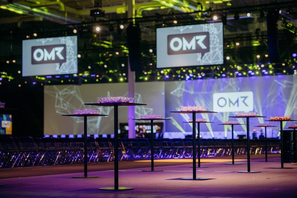 Auch bei den Online Marketing Rockstars in Hamburg fungiert Party Rent als Generalausstatter.