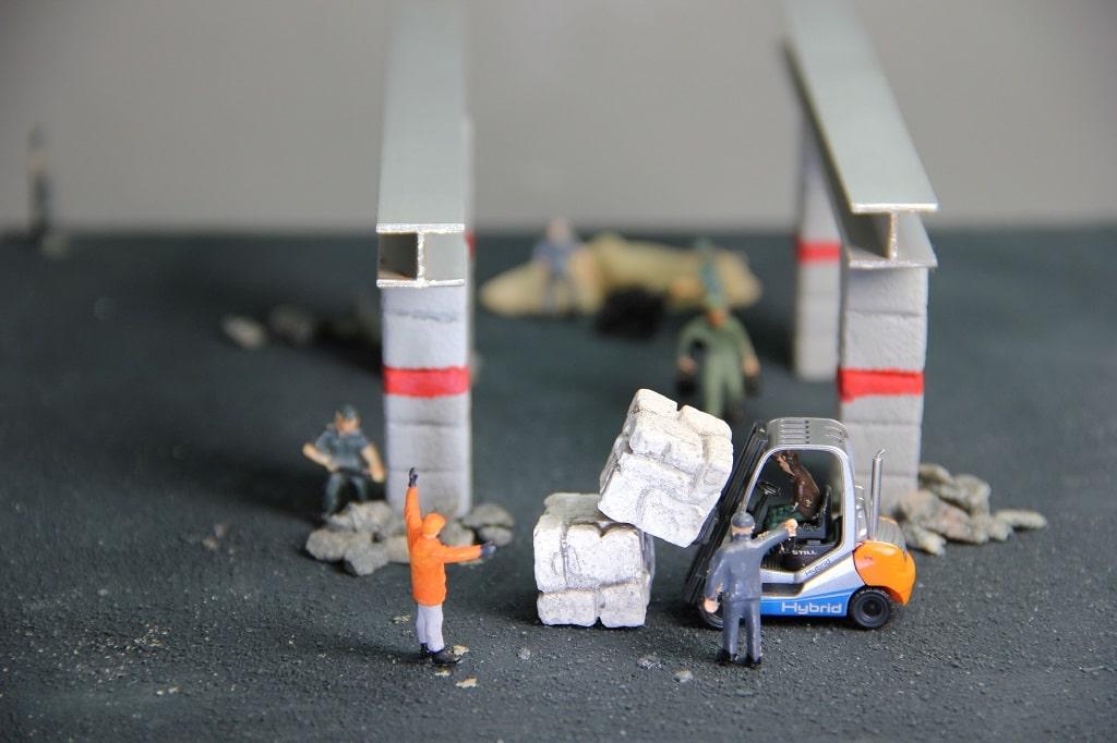 Gabelstapler-Arbeitsschutz-Unfall-Bau