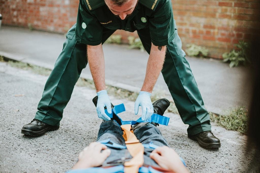 Sanitäter-Unfall-Arbeitsschutz