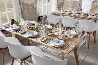 Die Nautic Collection harmoniert wunderbar mit dem Dinnertisch Halmstad.