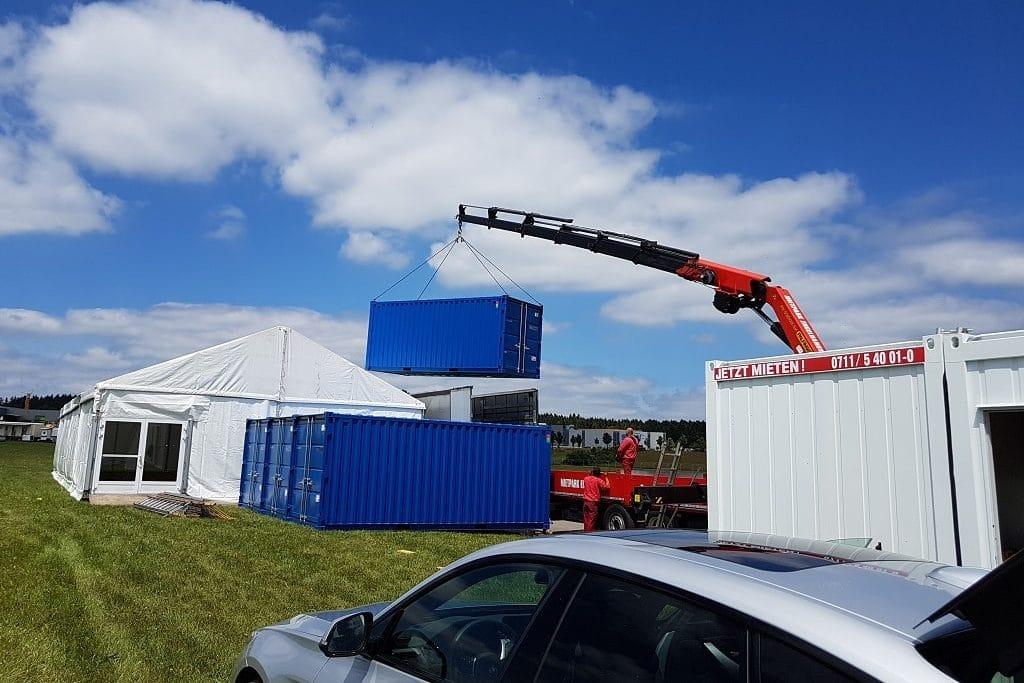 Einsatz von Container und Sonderbauten