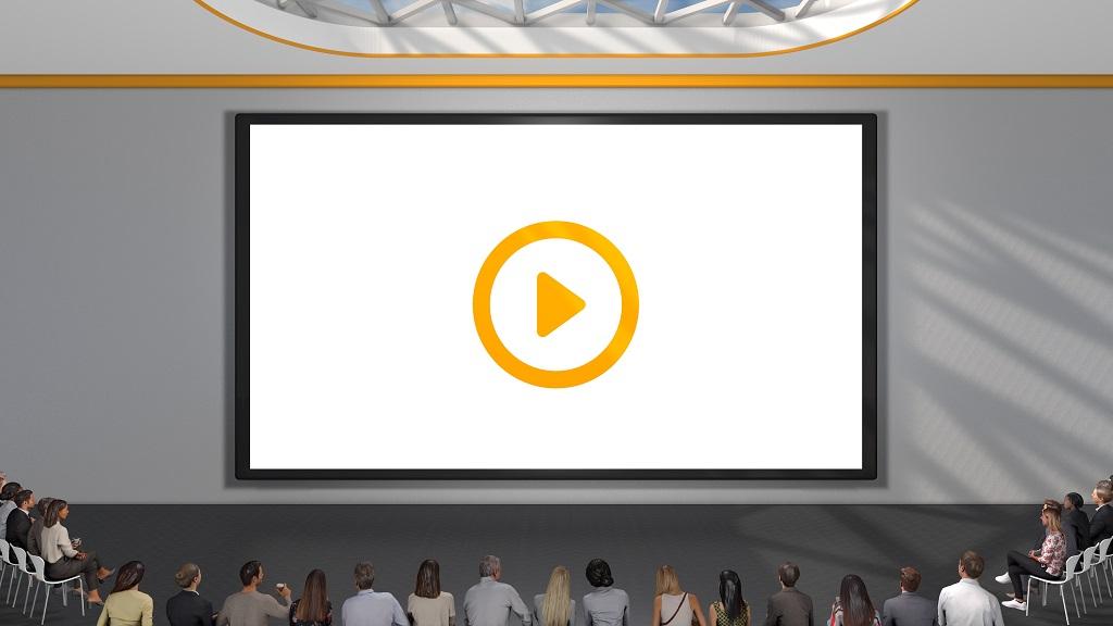 Im Auditorium der Global COMM Convention fanden insgesamt neun Live-Webcasts statt.