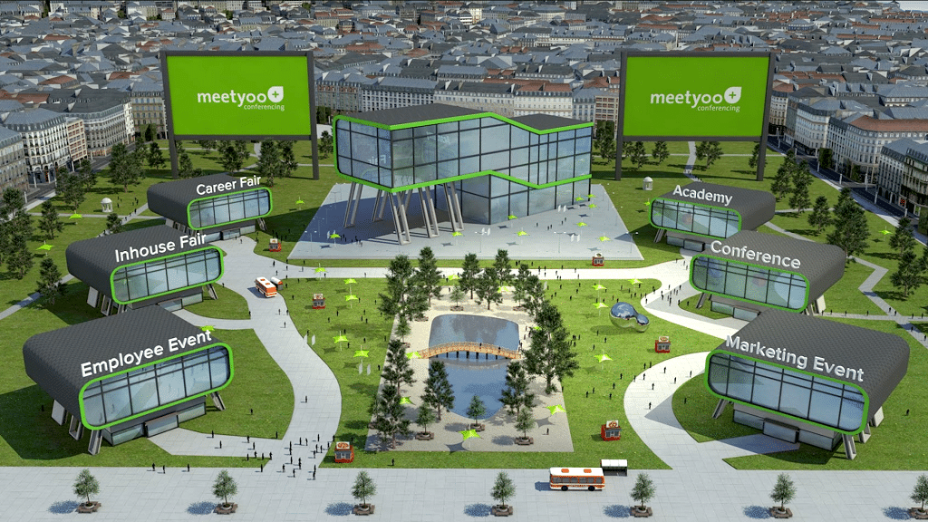 Alternative Darstellungsoption einer digitalen Messelandschaft