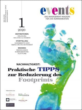 Titel events Magazin_Ausgabe 1 2020
