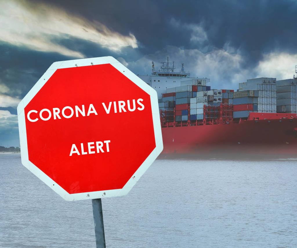 Stopschild mit Corona-Aufschrift