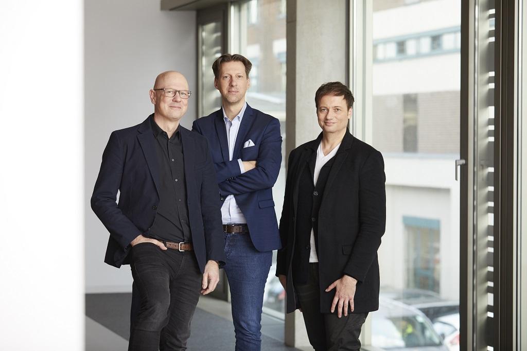 v.l.n.r.: Christian Zimmermann, Rüdiger Maeßen und Andrew Berglund