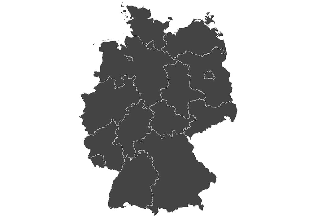 Deutschland-Bundesländer-Karte