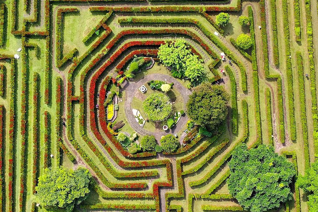 Labyrinth-Irrgarten