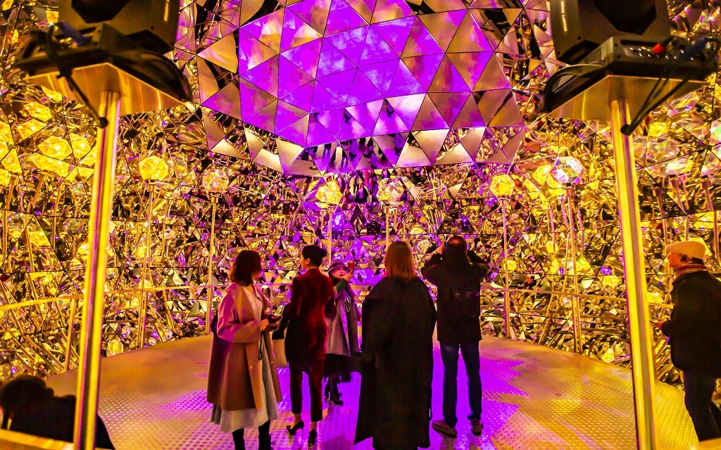 Inszenierung des Kristalldoms für das Swarovski Lichtfestival 2019