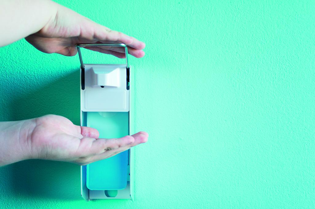 Desinfektion-Hand-Schutz-Sicherheit