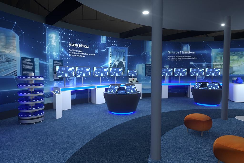 Digital Twin des Siemens-Messestandes zur Hannover Messe