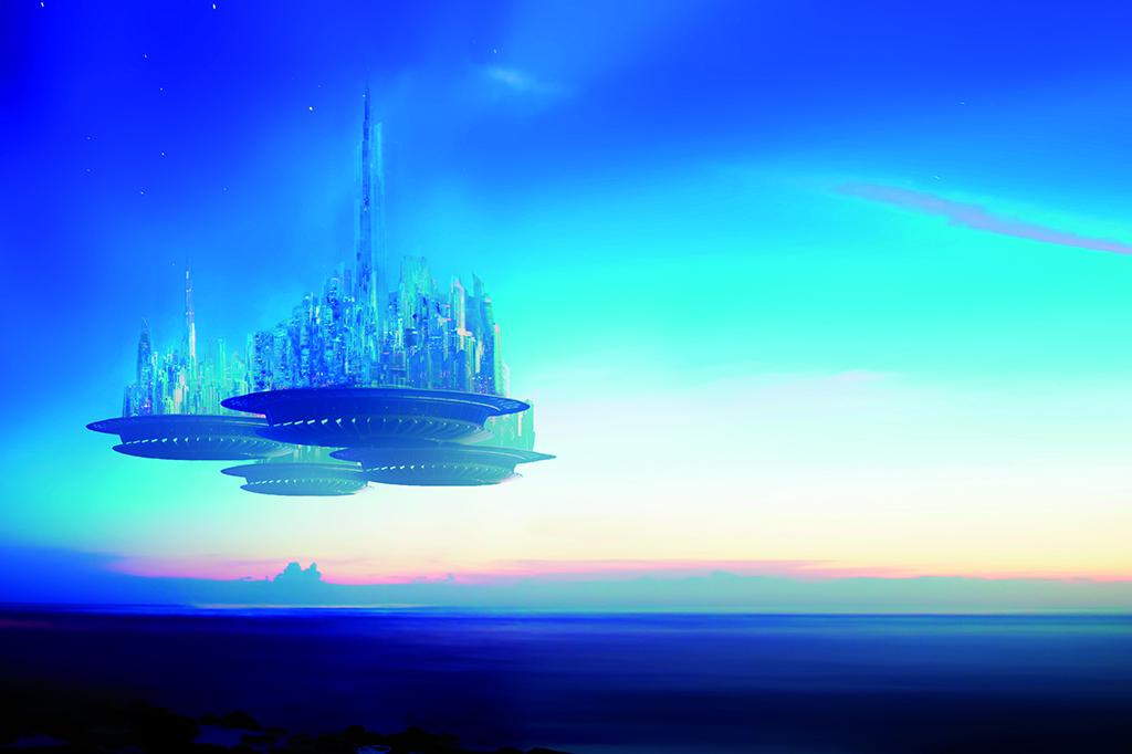 Utopia-Zukunft-Stadt-Utopie-Fantasie-Idee-Innovation
