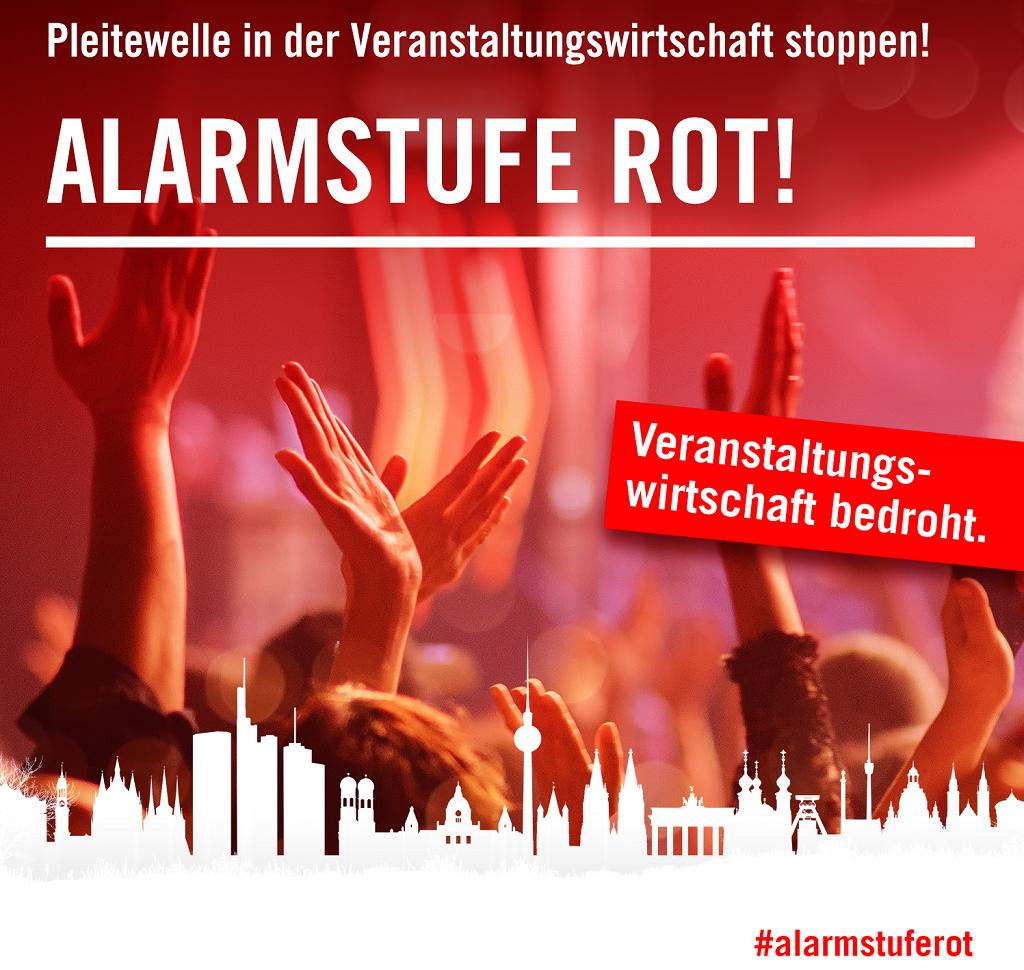 Banner_#AlarmstufeRot_Veranstaltungswirtschaft bedroht