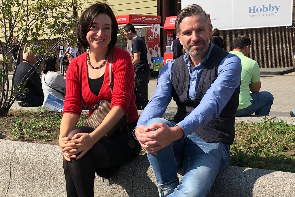 Besucher Lucia und Matthias Karmann aus Wachtendonk/Niederrhein