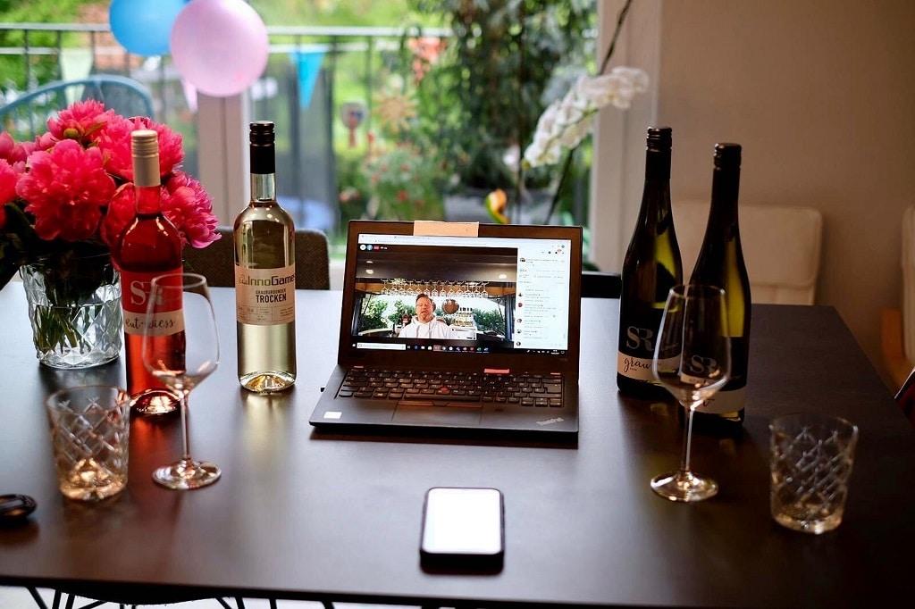Das Online-Wine-Tasting lockte über 170 Inno-Games-Mitarbeiter an.
