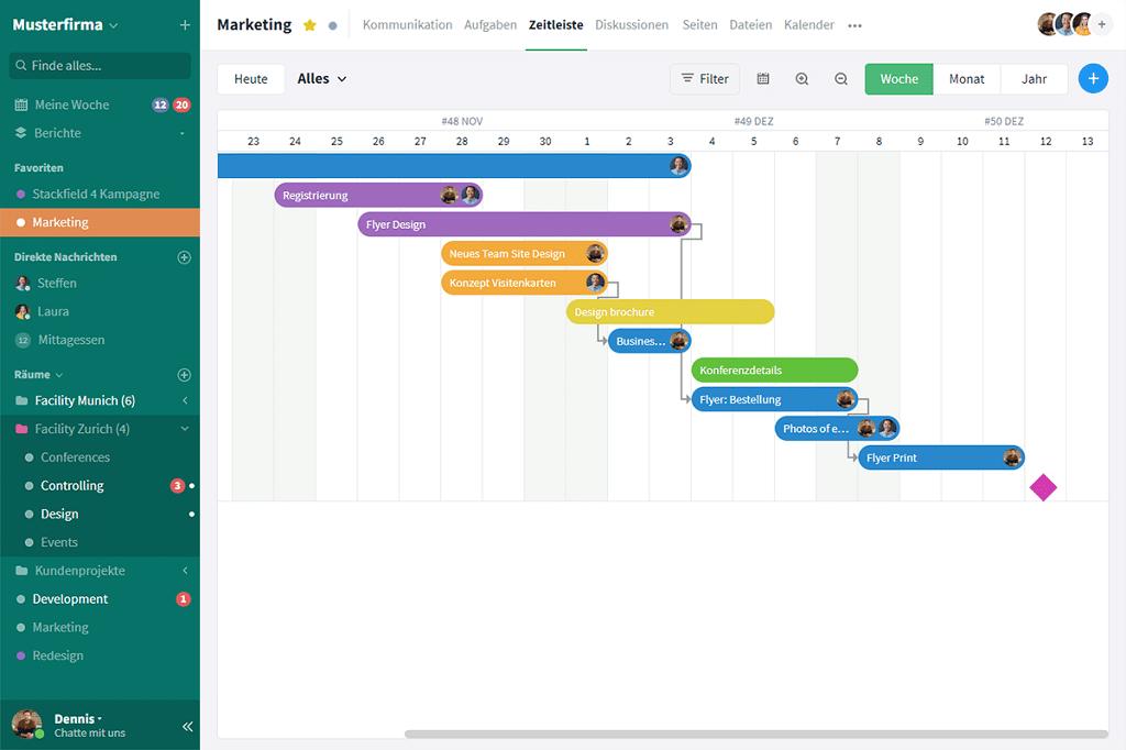Mit Stackfield lassen sich Aufgaben digital erstellen und Mitarbeitern zuweisen.