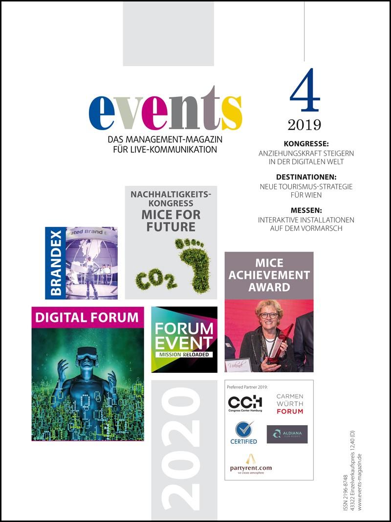 Produkt: events Magazin 04/2019