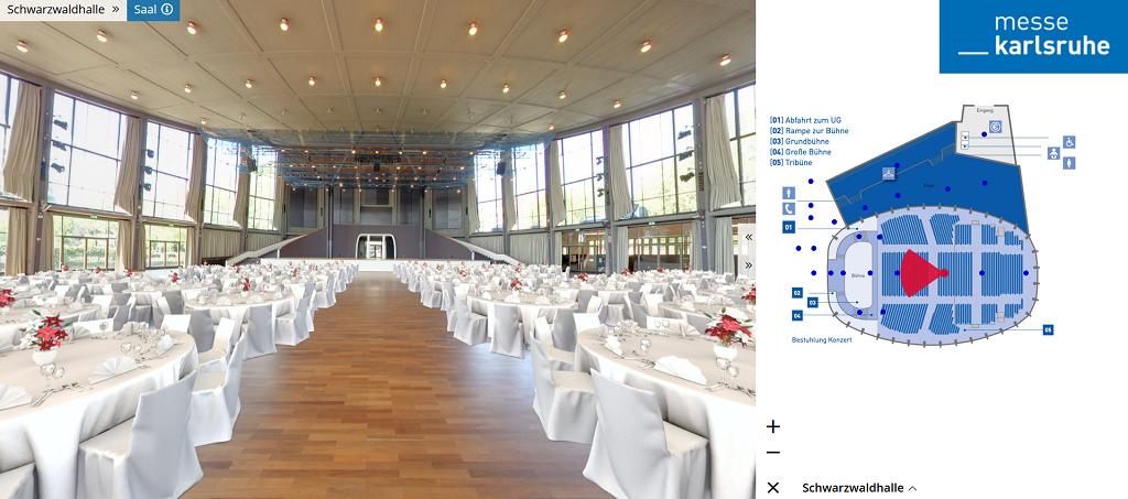 Visuelle Tour_Schwarzwaldhalle_Messe Karlsruhe
