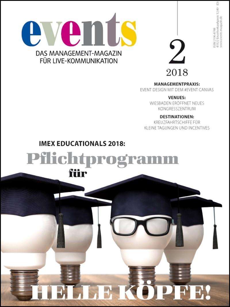Produkt: events Magazin digital 02/2018