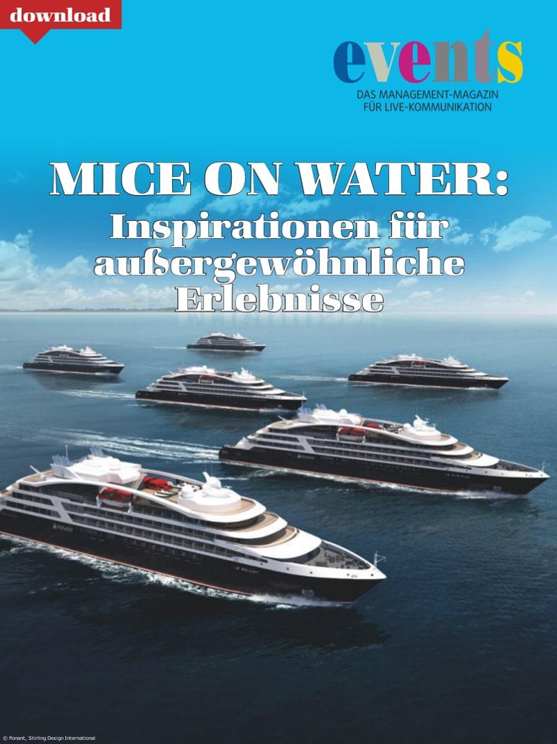 Produkt: Kostenloser Download: MICE ON WATER: Inspirationen für außergewöhnliche Erlebnisse