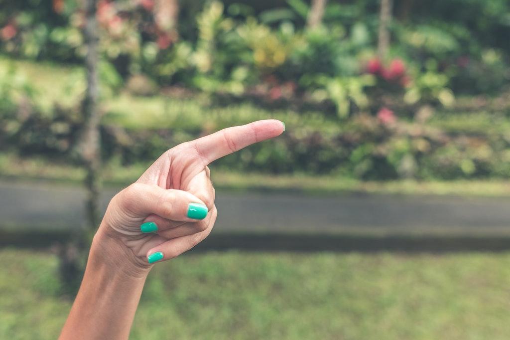 Finger-zeigen-auswählen