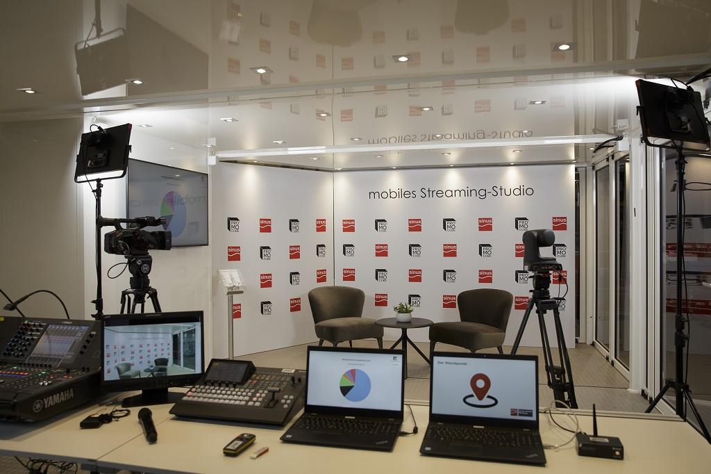 Mobiles Streaming-Studio von Promocube und Sinus