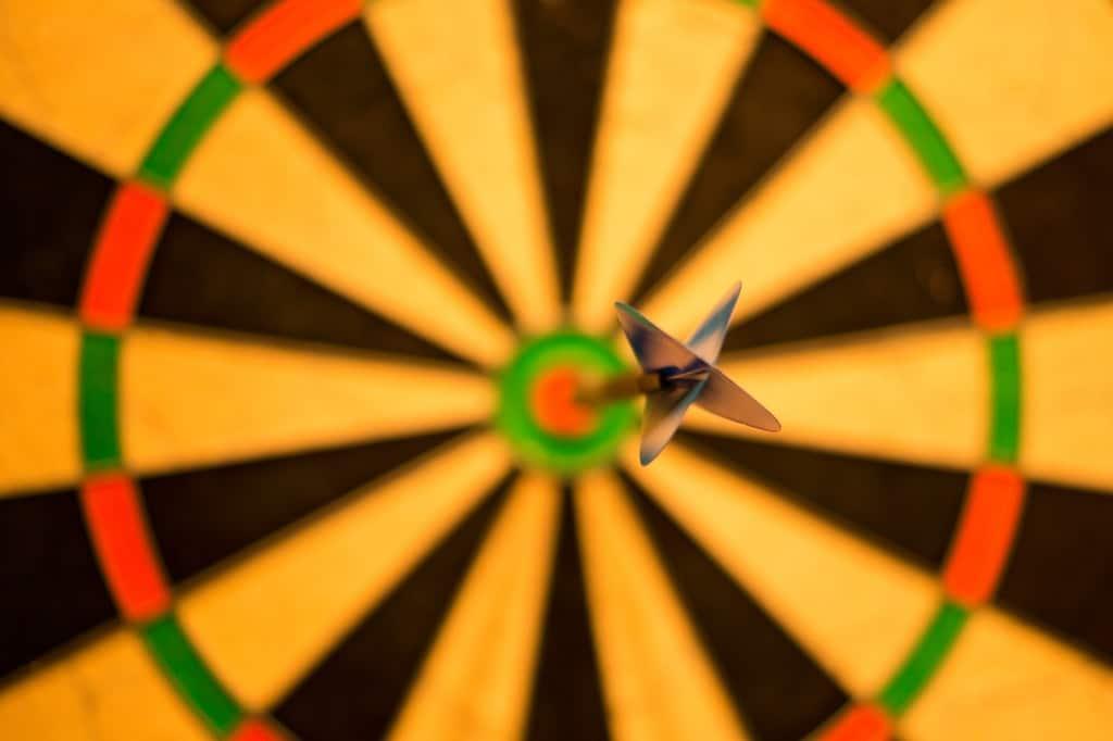 Ziel-Zielscheibe