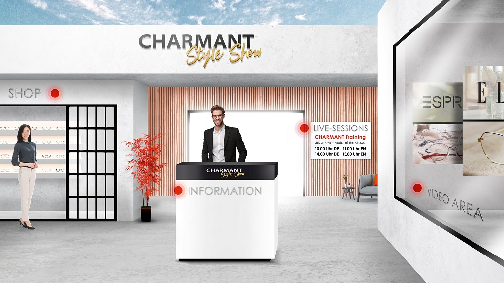 Charmant digitaler Messestand