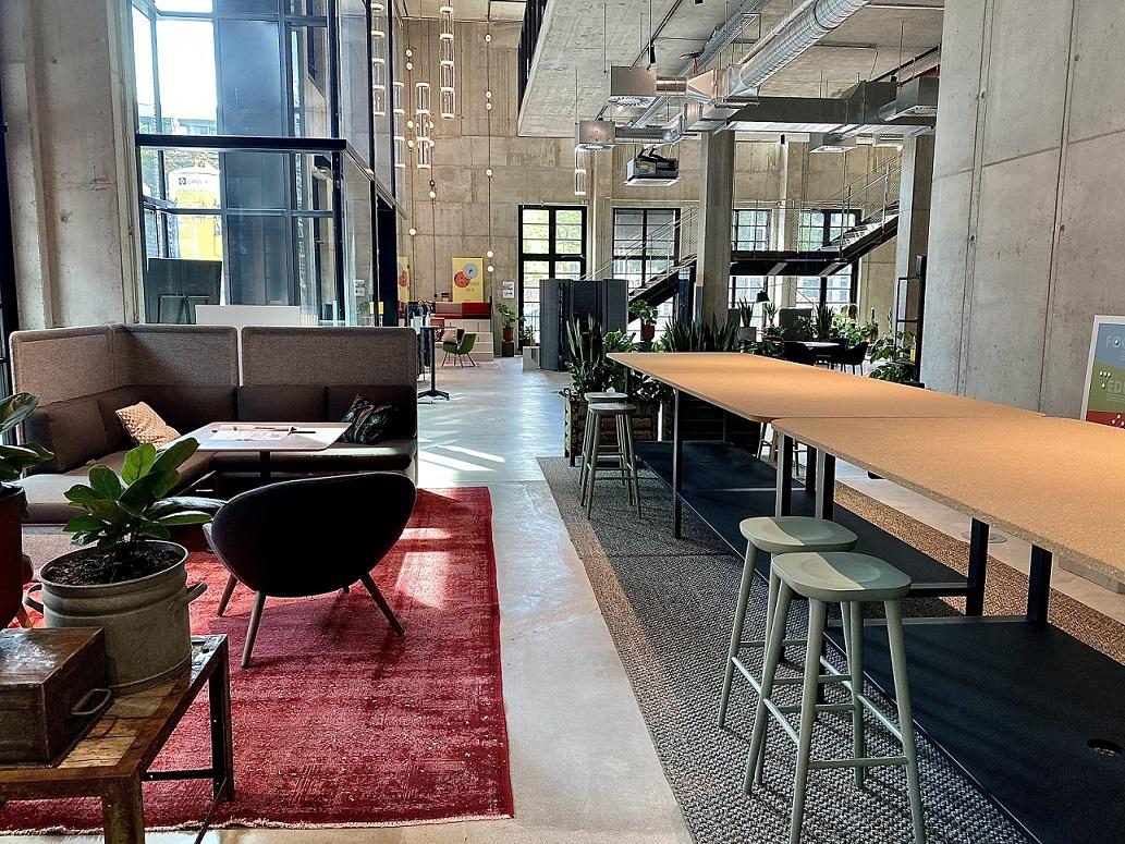 Lounge der Design Offices München Macherei