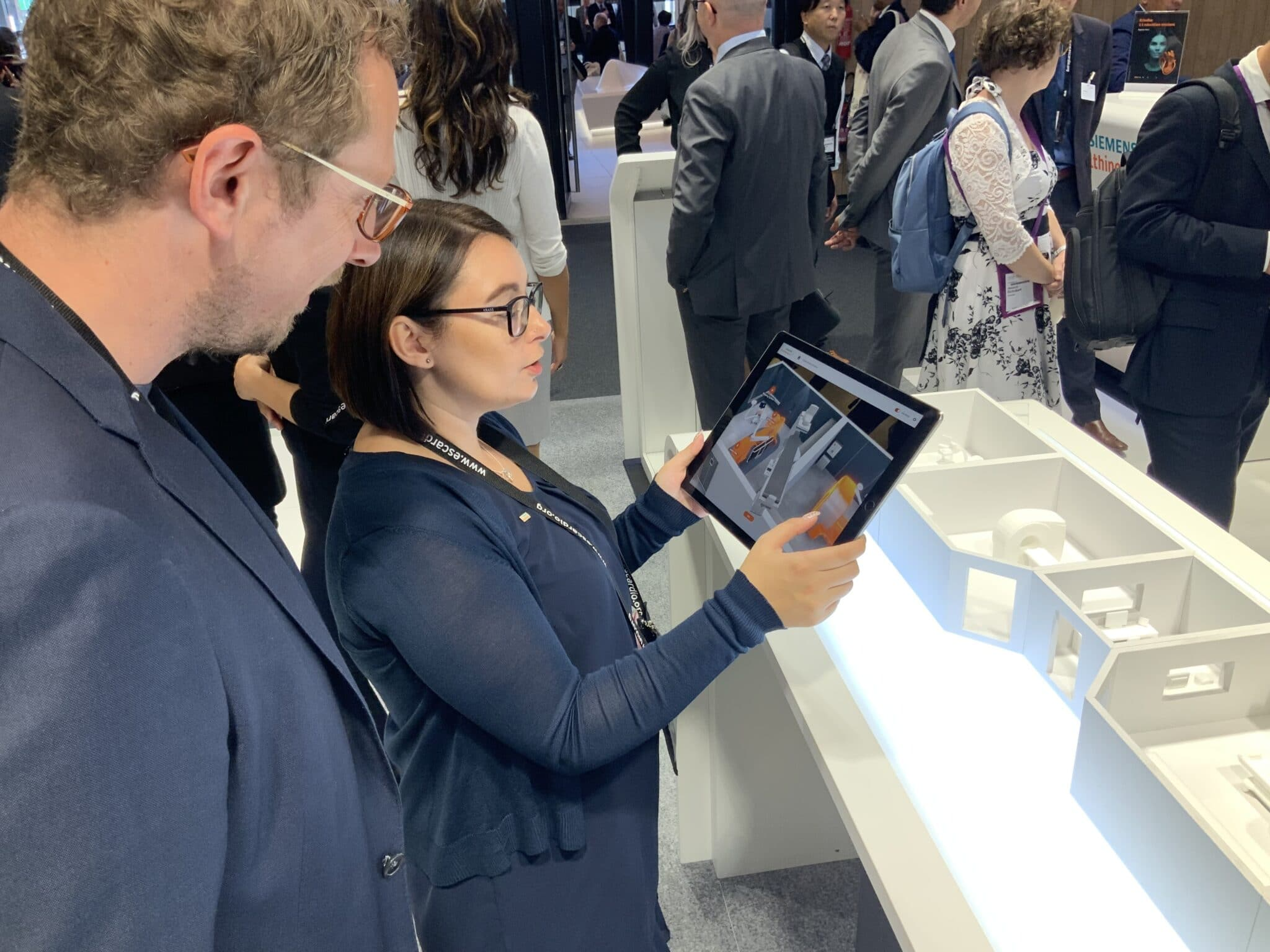 AR-HeartCenter-Solution-App am Messstand von Siemens Healthineers