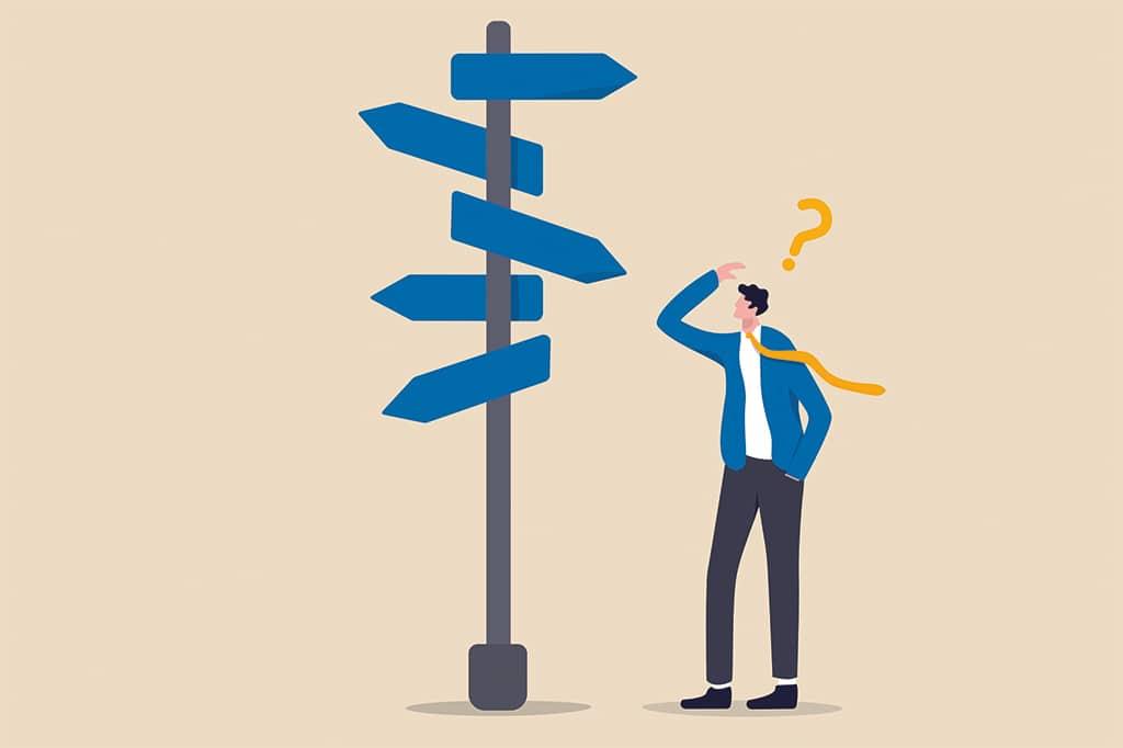 Weg-Unsicher-Suche-Entscheidung