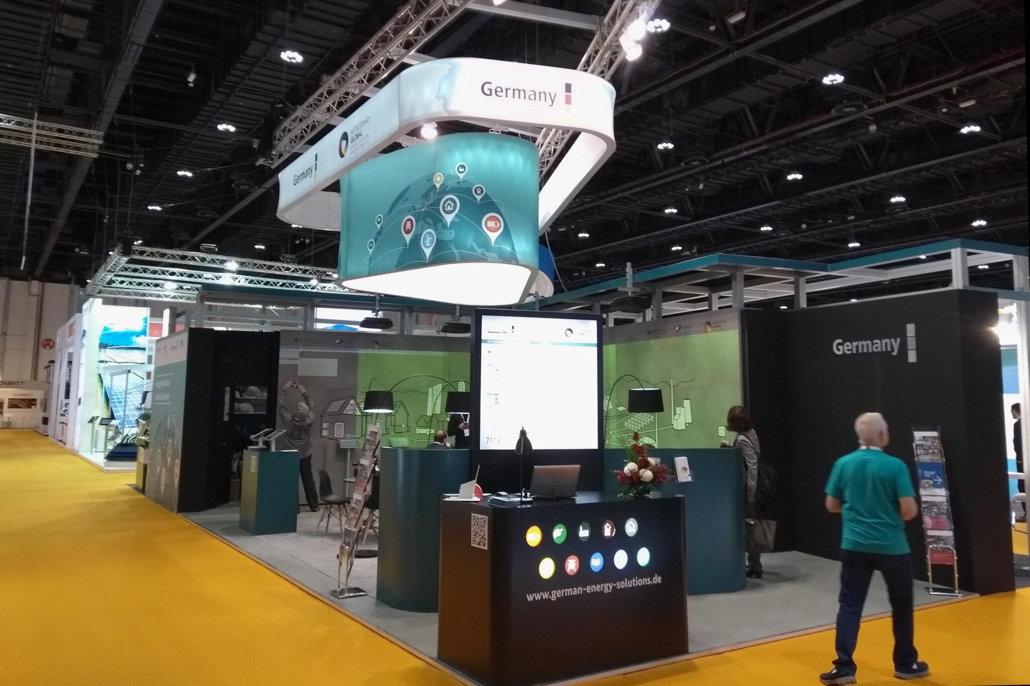 German Pavilion auf dem World Future Energy Summit Abu Dhabi